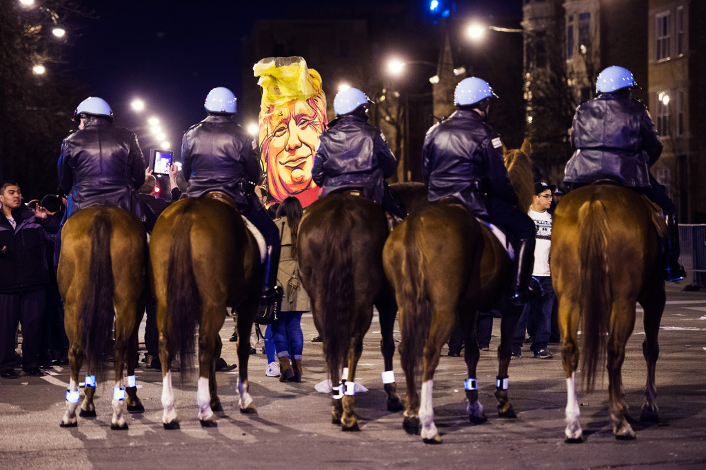 Donald Trump in Chicago, Illinois.